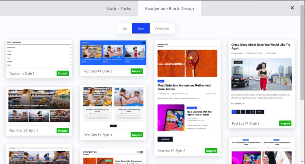 Readymade Blocks Design